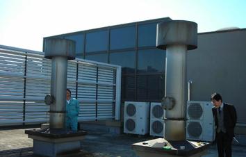 冷温水発生器施工前